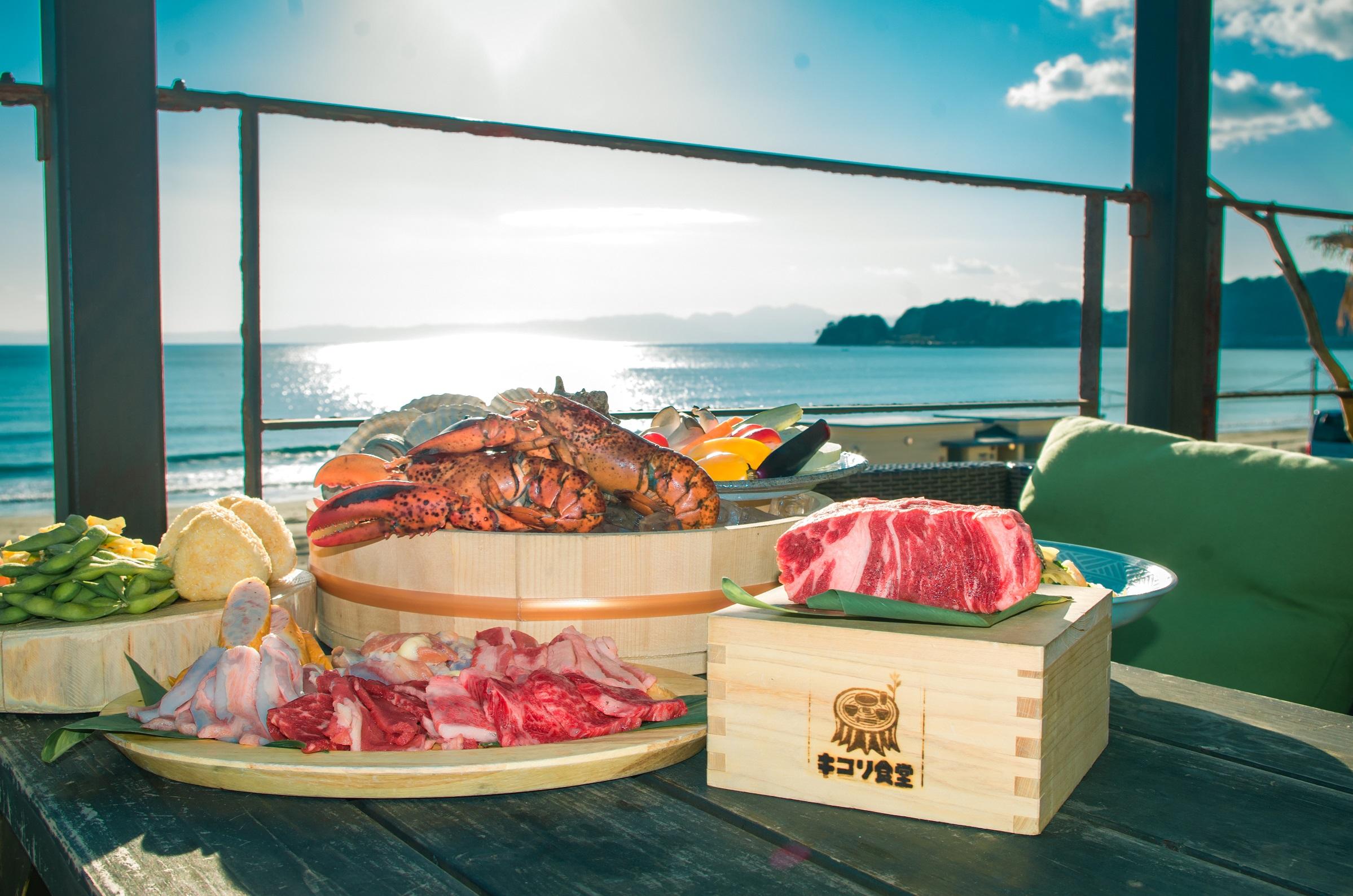 「3時間たっぷり!塊肉と豪快漁師盛りBBQコース」3