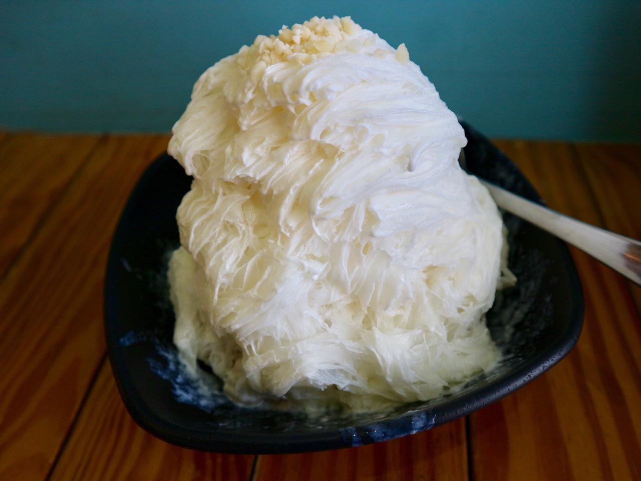 夏樹甜品の杏仁カキ氷
