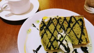 CAFE Luceさん抹茶シフォン