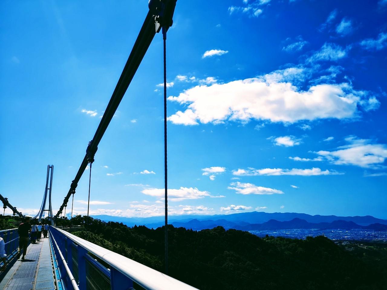 三島スカイウォーク橋の上