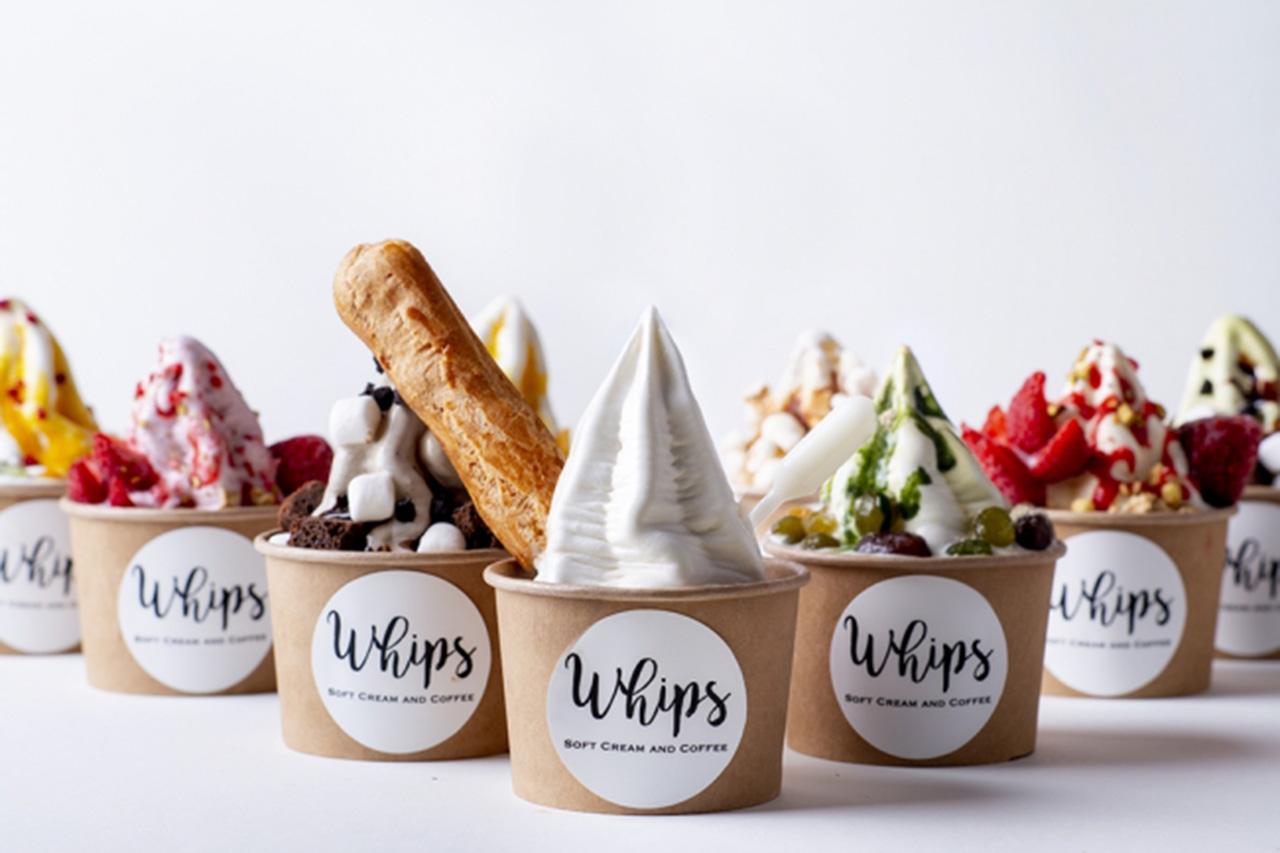 好みの味が作れるポップなソフトクリーム専門店「Whips(ホイップス)」