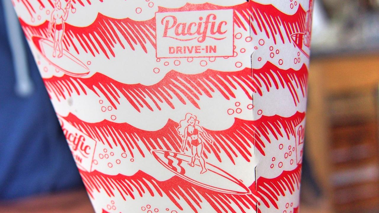 Pacific DRIVE-IN 包装紙