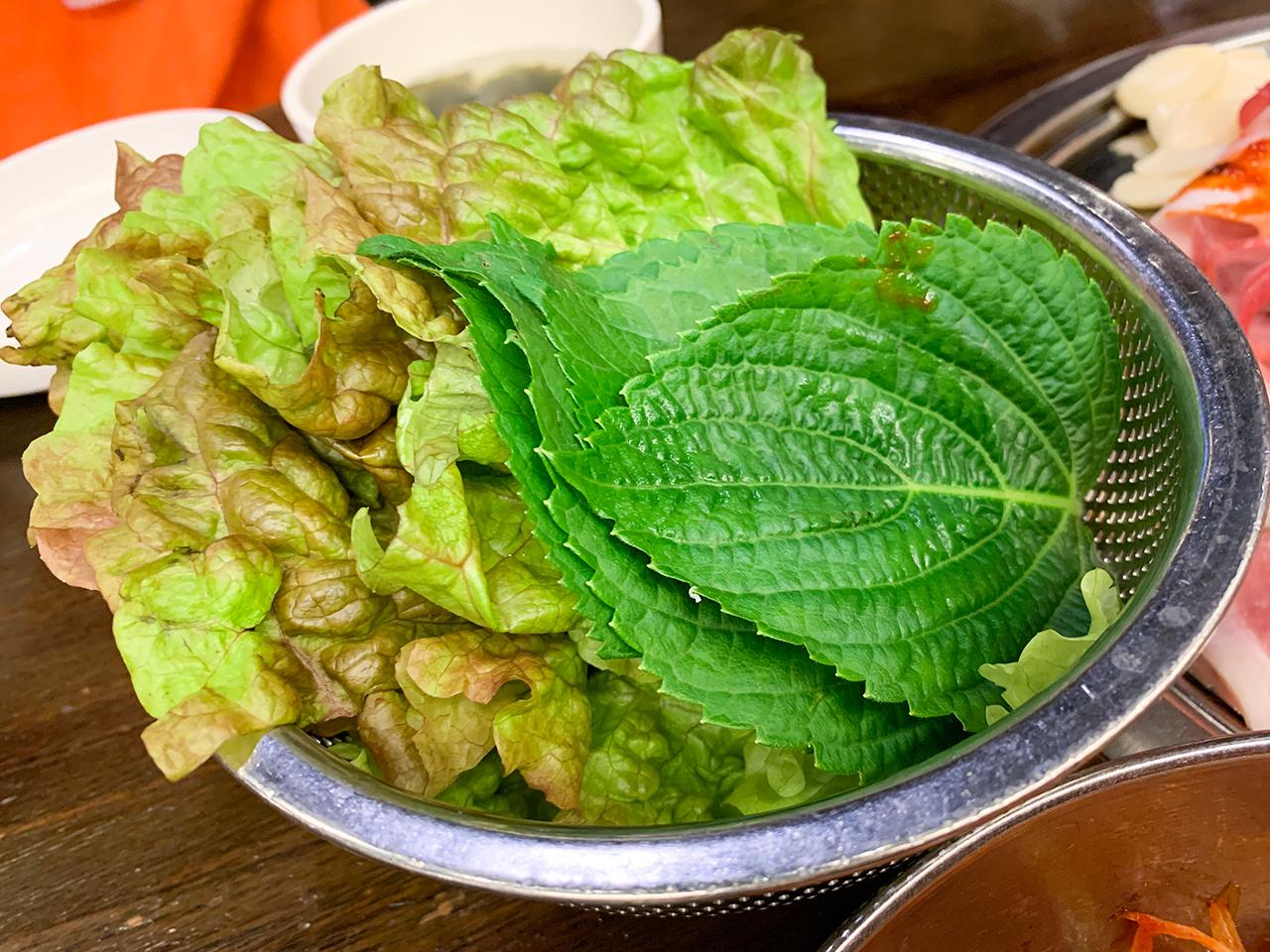 葉野菜のセット