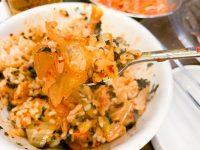 酸っぱいキムチチゲがご飯と海苔にぴったり!