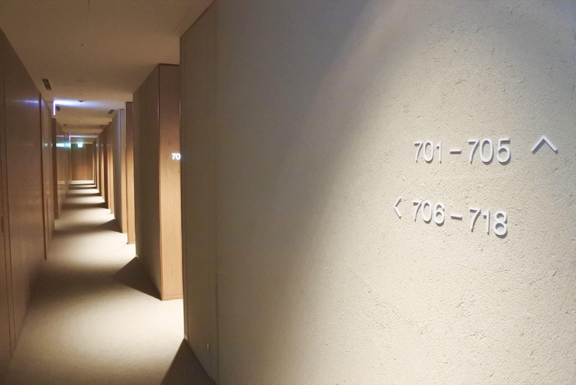MUJI HOTEL GINZA客室フロア