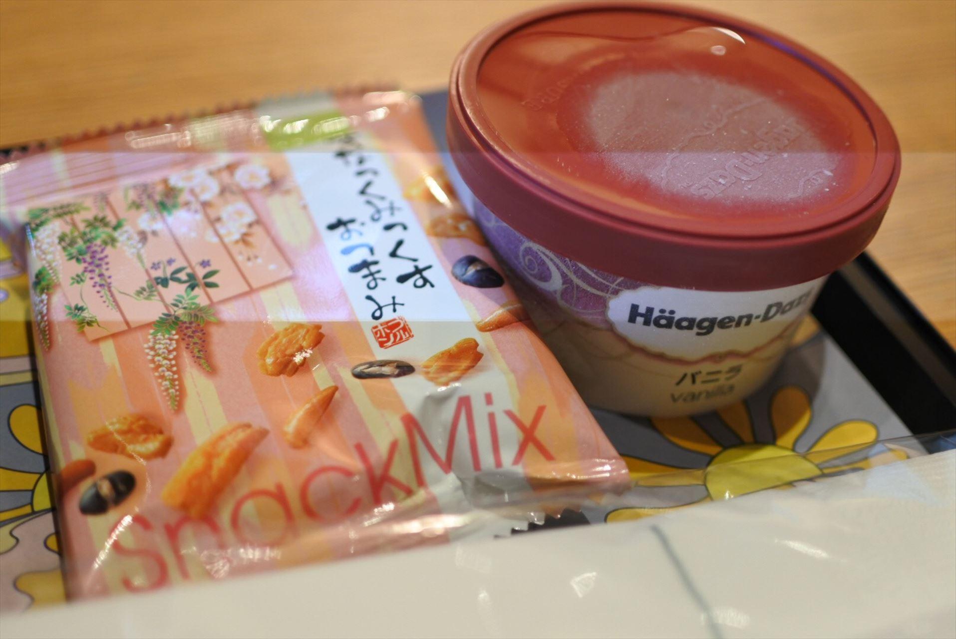 スナックミックス&アイスクリーム