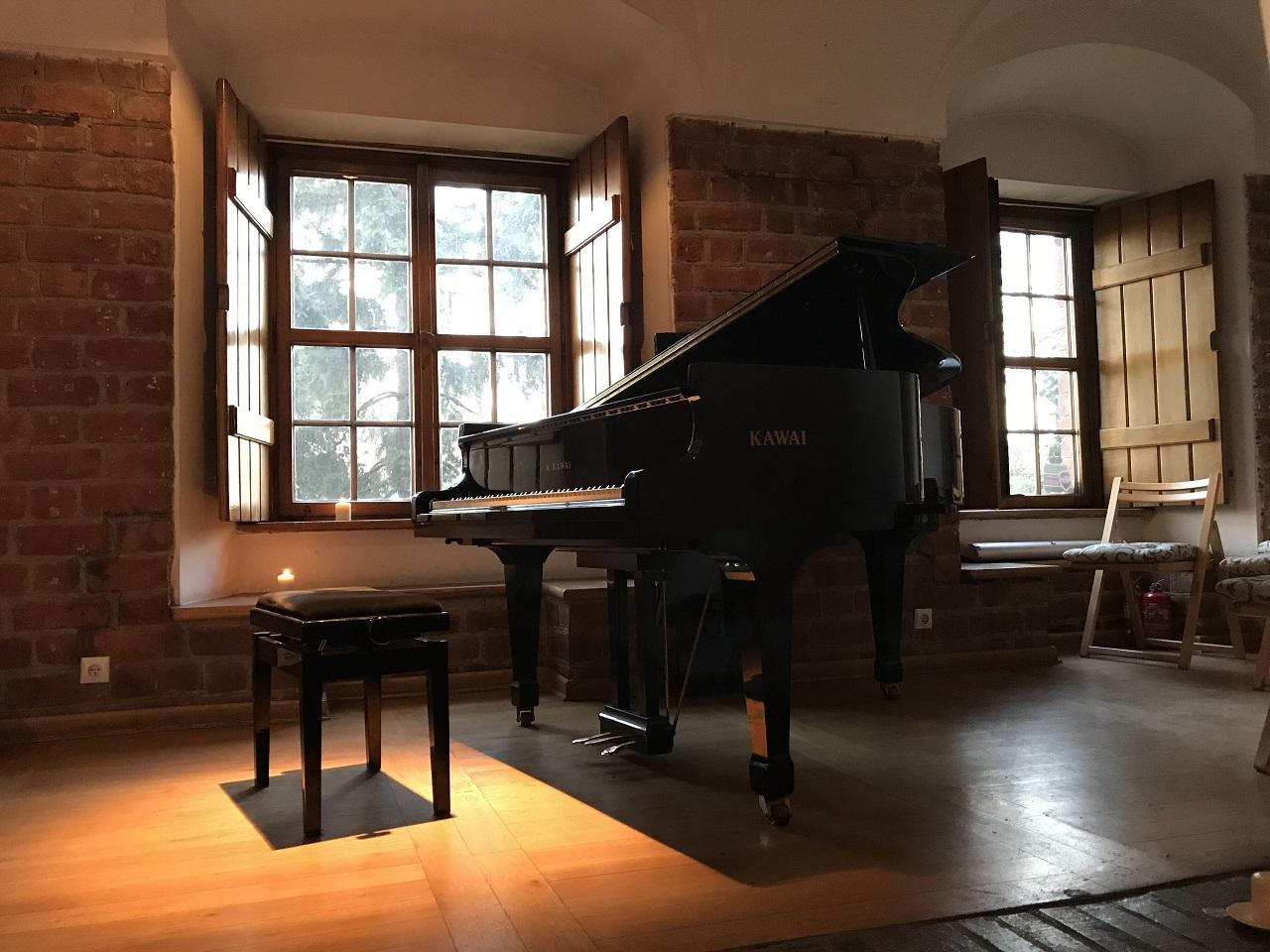 「Time for Chopin」会場のピアノ