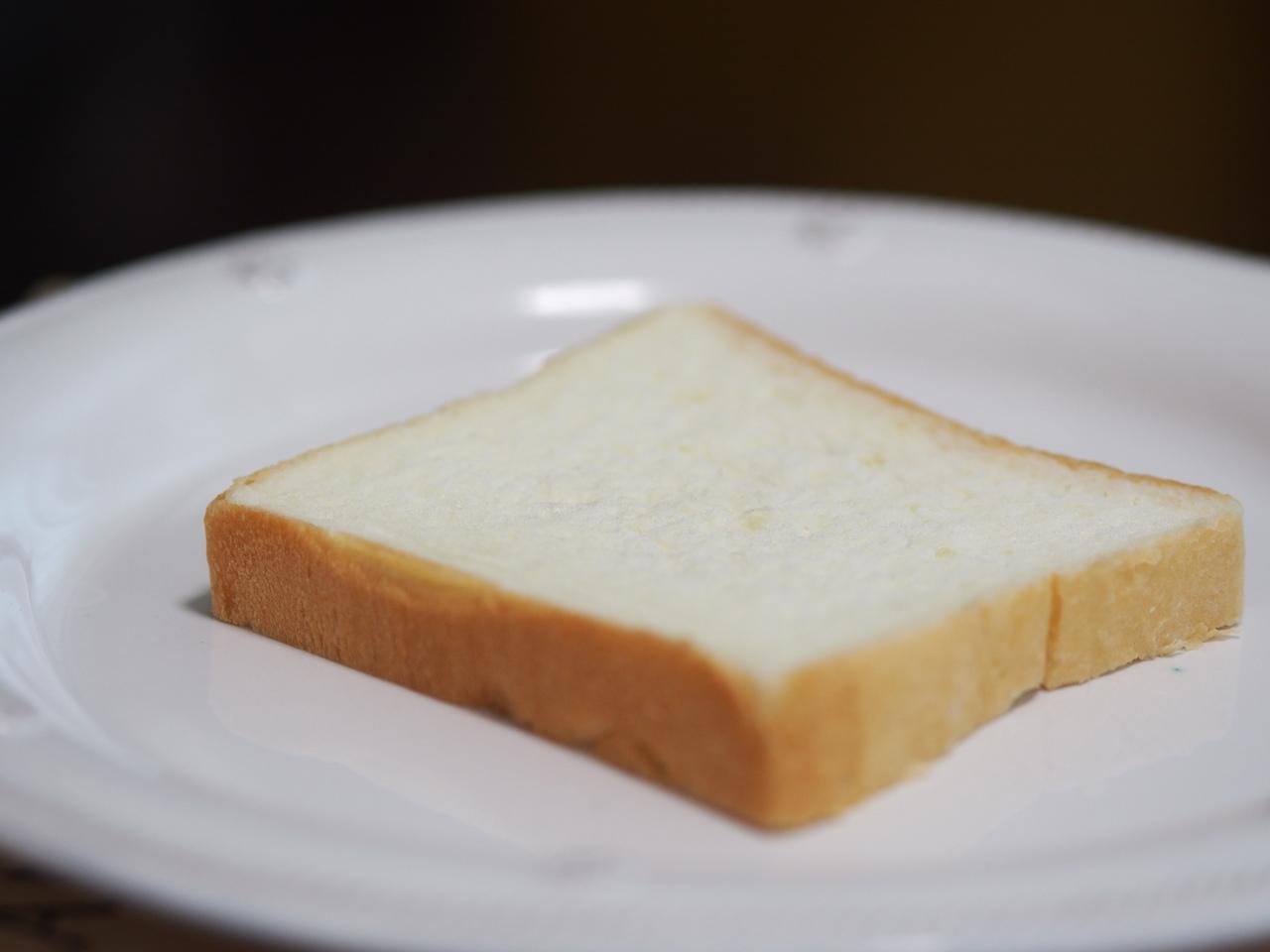 生食でいただく銀座に志かわの食パン