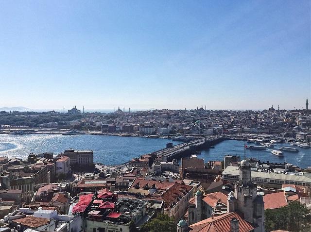 ガラタ塔から見えるイスタンブール旧市街