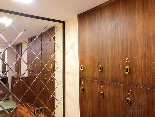 AjwaHotelハマムの脱衣所