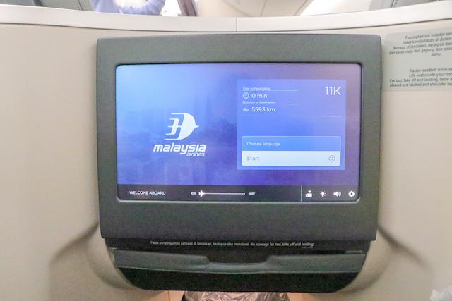 マレーシア航空機内10