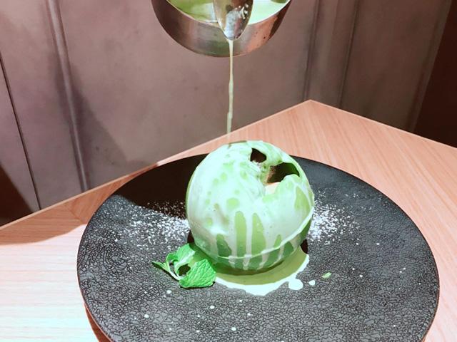 ESOLA(エソラ)新宿「伊勢茶の抹茶チョコドーム」