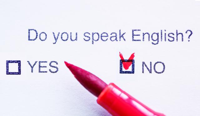 だって英語が話せない!