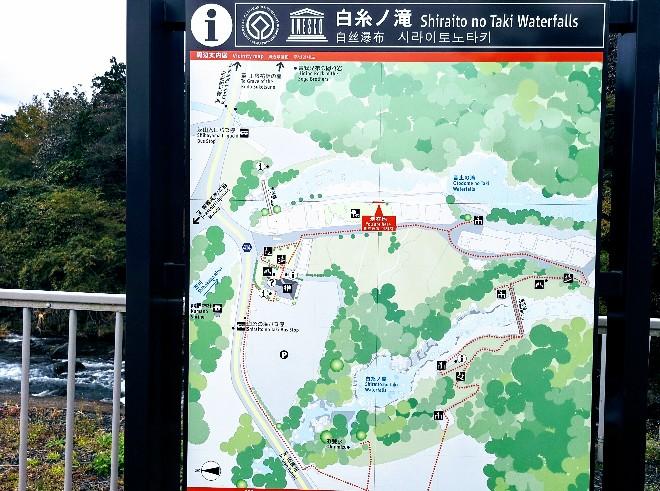 白糸ノ滝地図