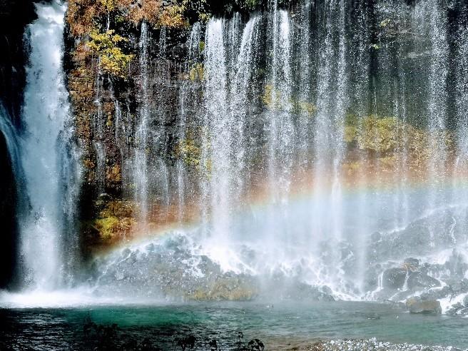 白糸ノ滝と虹