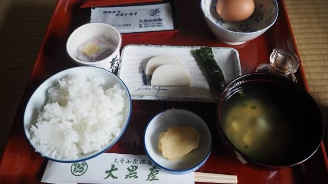 朝食のお膳