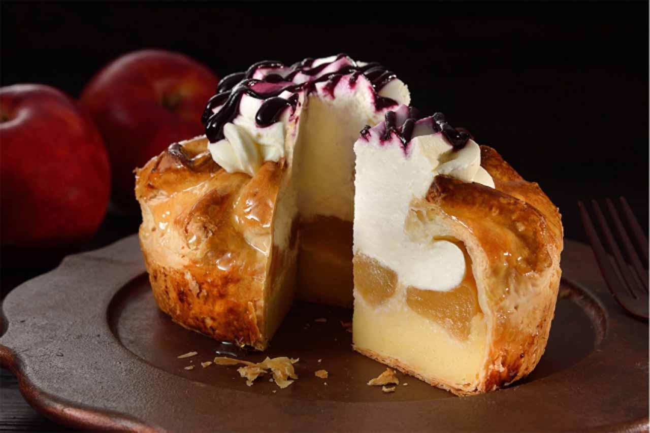 チーズクリームアップルパイ