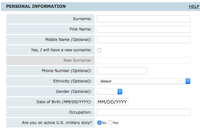 結婚許可証の申請 オンライン