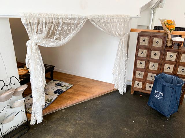 個室みたいなスペースも