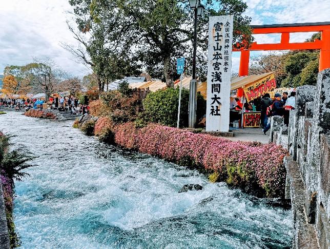 浅間大社川沿い