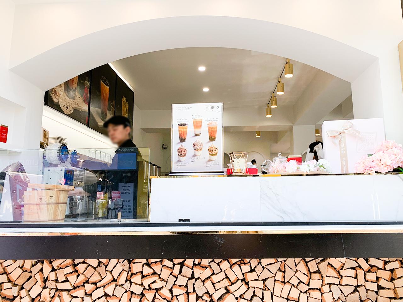 黒糖タピオカはお店で作られてます