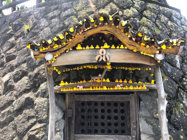 石段街 黄色いアヒル