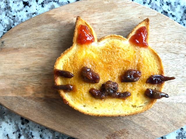 「いろねこ食パン」トースト