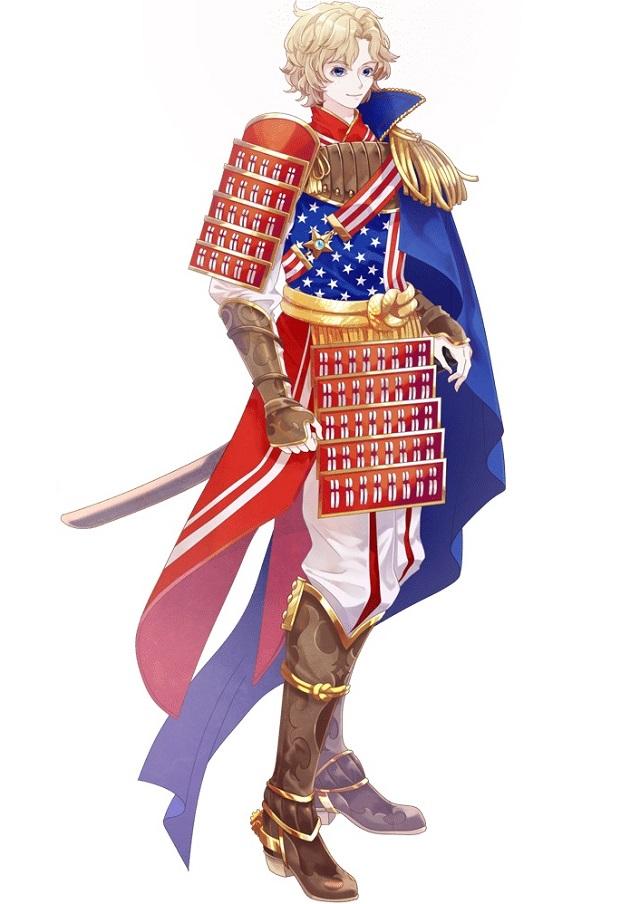 アメリカの国旗キャラクター