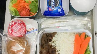 ニューヨーク JFK空港 〜 日本大阪 関西空港間 チャイナエアライン機内食