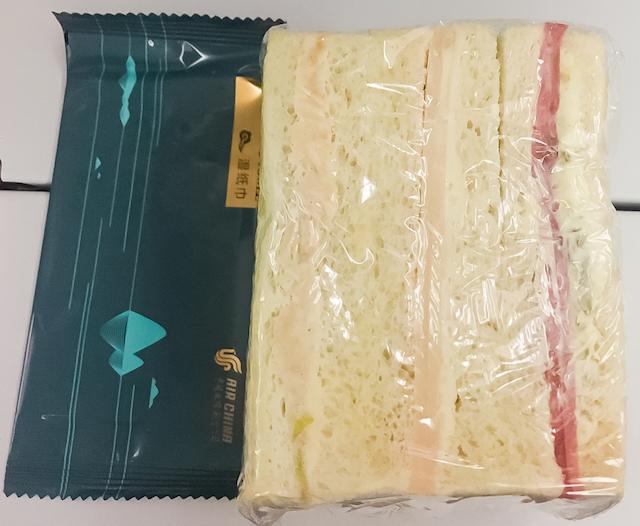 日本大阪関西空港 〜 ニューヨークJFK空港間 チャイナエアライン機内食
