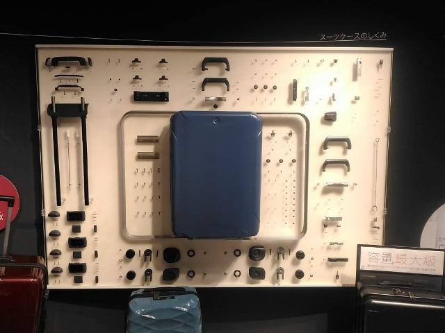 世界のカバン博物館スーツケースのパーツ