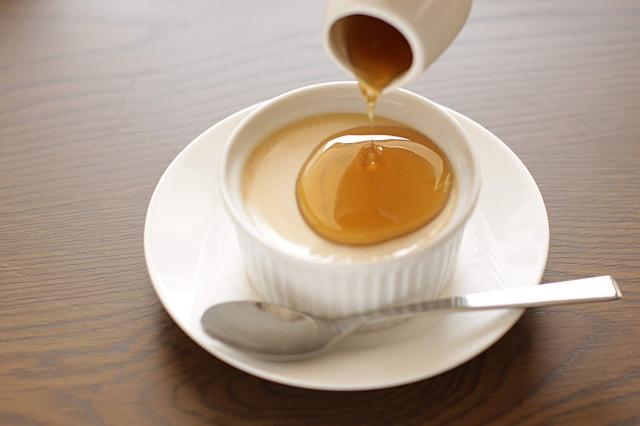 台湾茶葉入りプリン