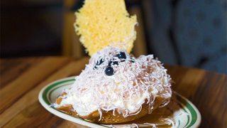 DAIGOMI BURGER (ダイゴミ バーガー)「チーズシェービングケーキ(ブルーベリー風味)」