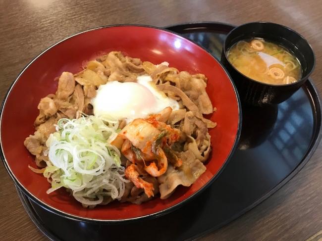 【尼御前SA(上り)】能登豚のスタミナキムチ丼