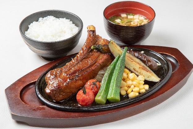 【阪和自動車道 岸和田SA下り線】 夏野菜とスペアリブのスタミナグリル