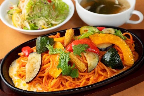 【松山自動車道 石鎚山SA下り線】 夏野菜のちゃスパ
