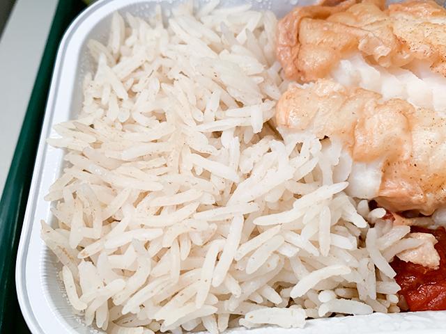 帰りも細長いお米が。