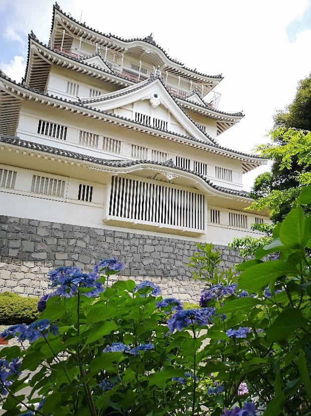 亥鼻公園お城と紫陽花