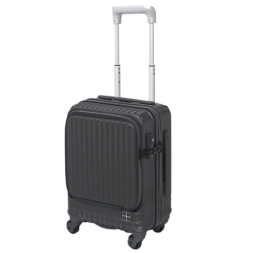 hands+ スーツケース インテンションシリーズ コインロッカーサイズ フロントオープン 21L(ガンメタル)1