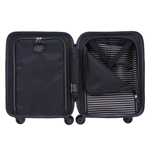 hands+ スーツケース インテンションシリーズ コインロッカーサイズ フロントオープン 21L(ガンメタル)2