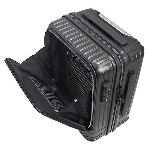 hands+ スーツケース インテンションシリーズ コインロッカーサイズ フロントオープン 21L(ガンメタル)3
