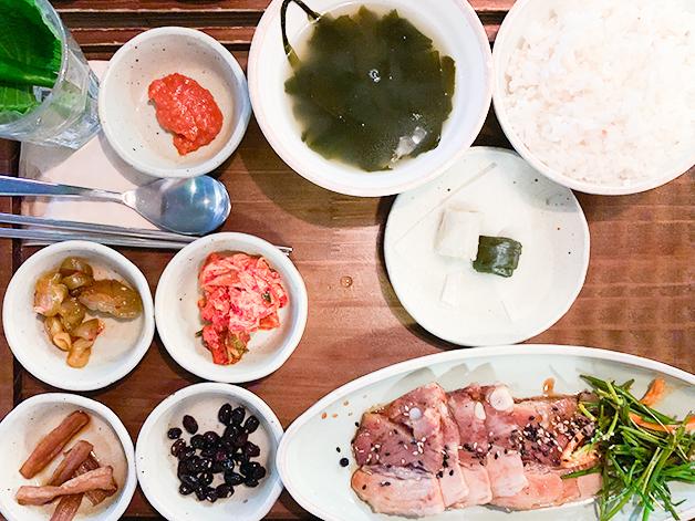 韓方ポッサムバーベキュー定食