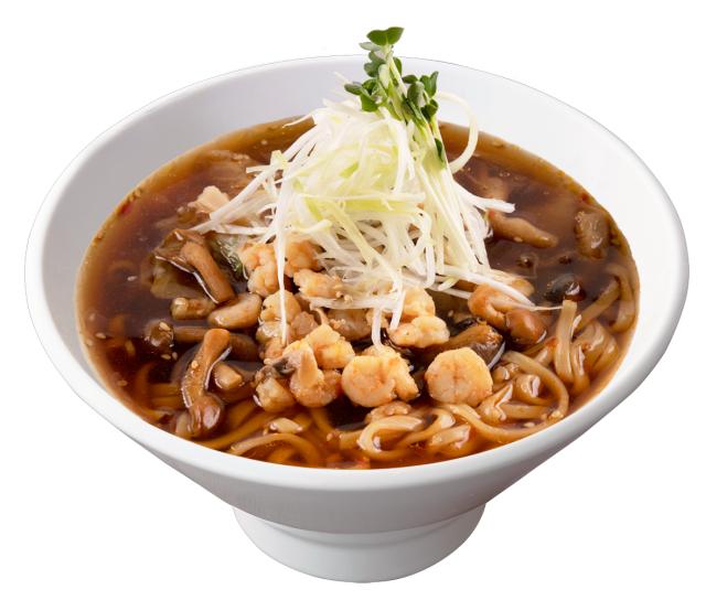 海老ときのこの台湾湯麺