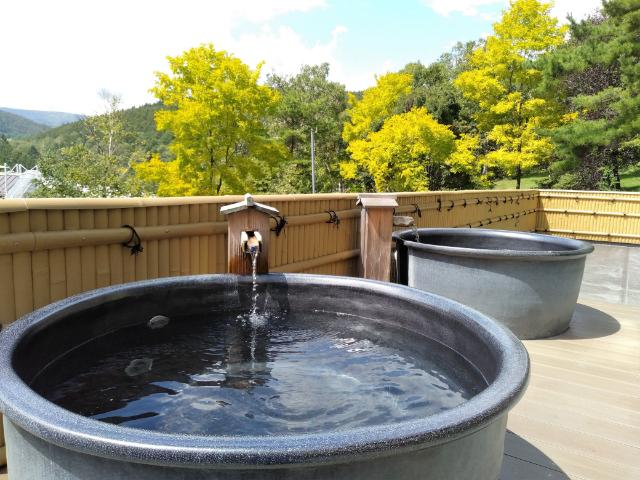 白樺リゾート池の平ホテル温泉陶器風呂