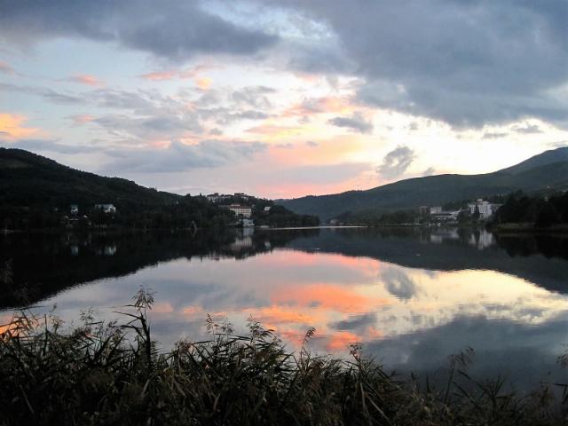 白樺リゾート池の平ホテル夕焼け