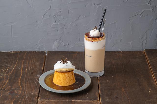 #802 CAFE&DINER渋谷店「802号室のクラッシックプリン」「自家製チーズクリームのほうじ茶ラテ」