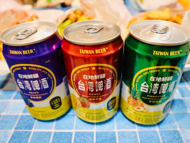 台湾フルーツビール三種
