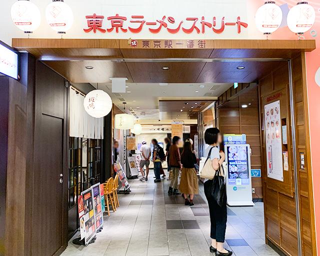 「東京ラーメンストリート」には8店舗のラーメン屋さんが
