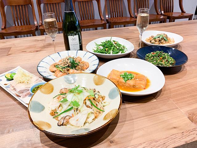 シャンパンに合う台湾料理たち