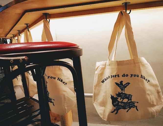 博多ニューコマツ荷物入れトートバッグ